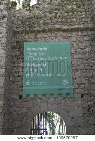 Welcome Sign To Moorish Castle