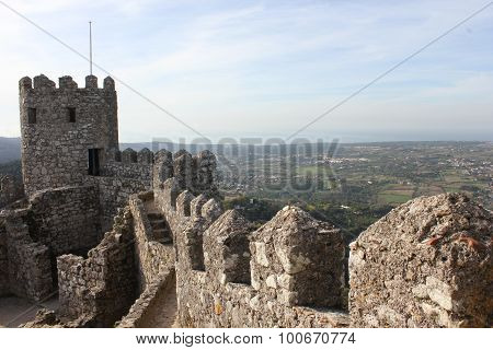 Ancient Moorish Castle In Sintra