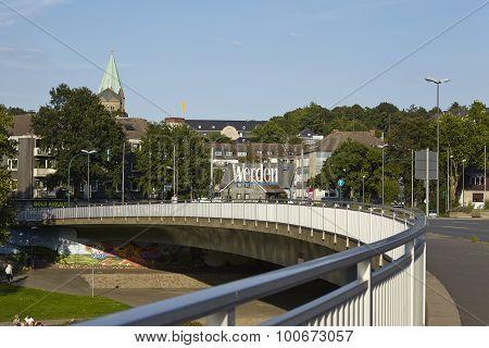 Essen-werden (germany) - Bridge Over The Ruhr River