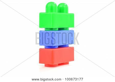 Plastic building block