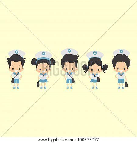 Asian School Uniform