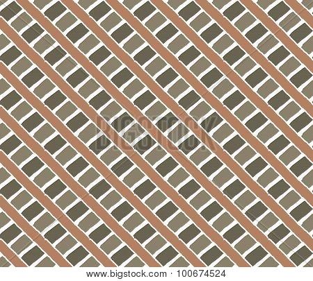 Vintage Lines Pattern. Orange Green