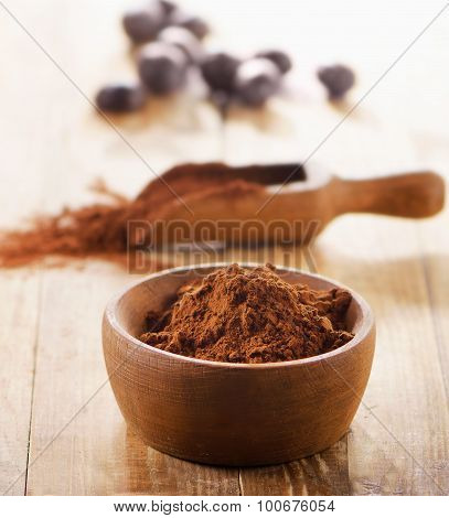 Cacao Powder In  A Bowl.
