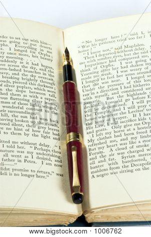 Antigo livro & Pen