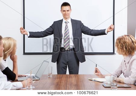 Business Team Motivated By Positive Presenter