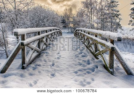 snowy little bridge