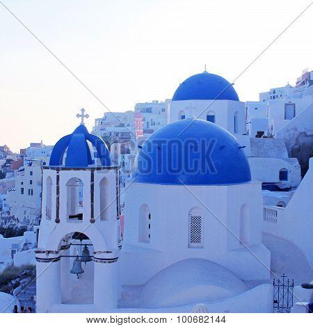 Orthodox Church,oia, Santorini Island, Greece