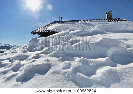 Cottage Under Snow