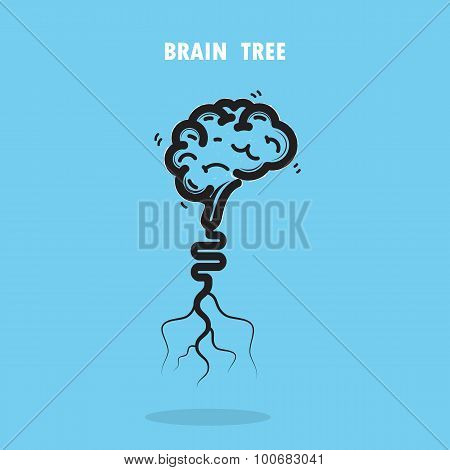 Creative Brain Tree Abstract Vector Logo Design.corporate Business Industrial Creative Logotype.brai