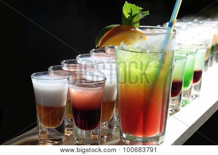 Many Alcoholic Cocktails