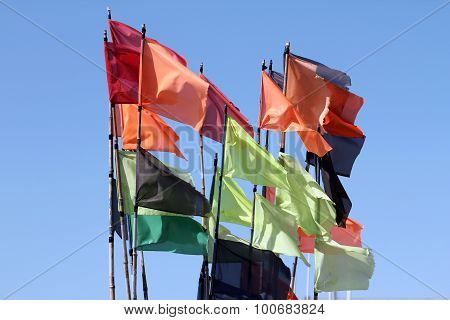 Multi-colored flags