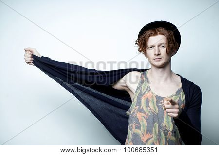 Red Haired Fashionable Man