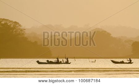 Traditional Fisherman In Arugam Bay Lagoon, Sri Lanka