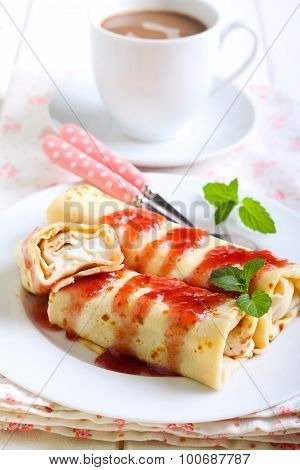 Pancakes With Cream Cheese Filling