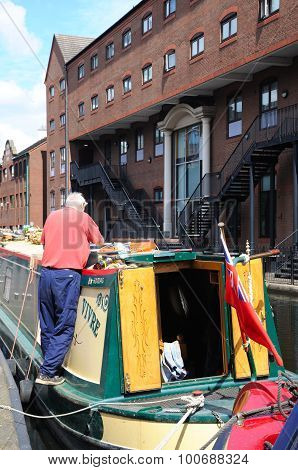 Narrowboat, Birmingham.