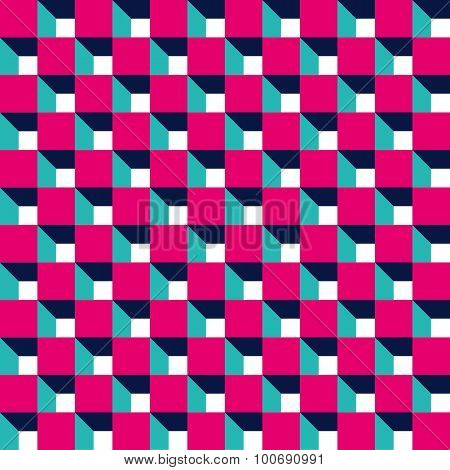 Seamless 3d Cube Pattern