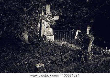 Old Gravestone Cross