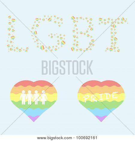Homosexual pride concept.