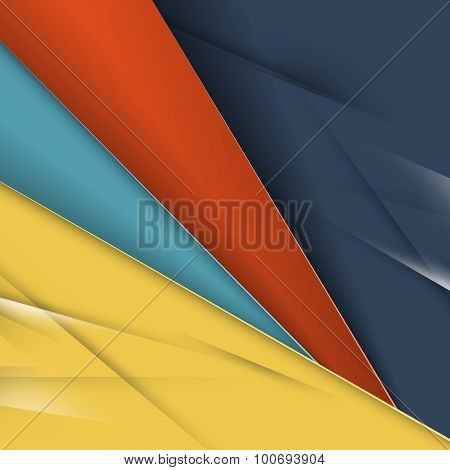 Abstract Colorful Vector Background. Modern Material Design