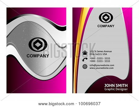 Vector vertical business card