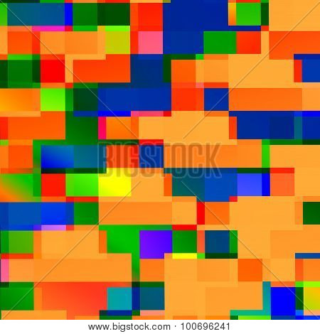 Abstract square shapes background. Lines art. Funny party theme. Messy mixed forms. Brick space.