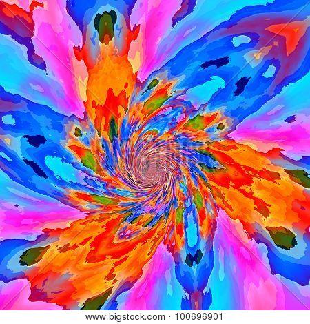 Bright flaky fractal paint background. Old image style. Full frame. Cool ideas. Mixed loop. Liquid.