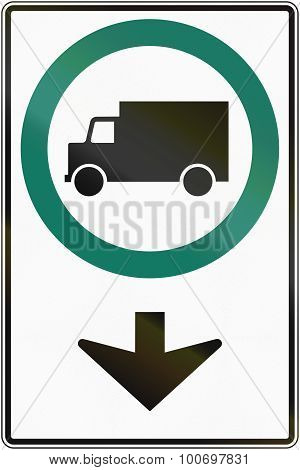 Lorry Lane Ahead In Canada