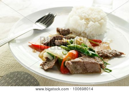 Fried Beef With Oyster Sauce
