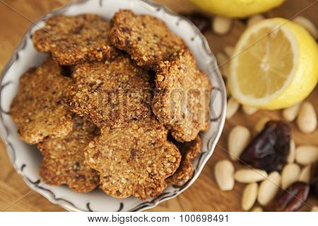 Gluten Free Ginger Cookies With Almonds And Dates
