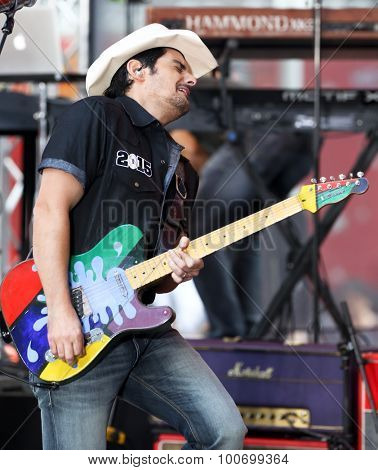 NEW YORK-SEP 4: Brad Paisley performs onstage at NBC's TODAY Show Concert Series at Rockefeller Plaza on September 4, 2015 in New York City.