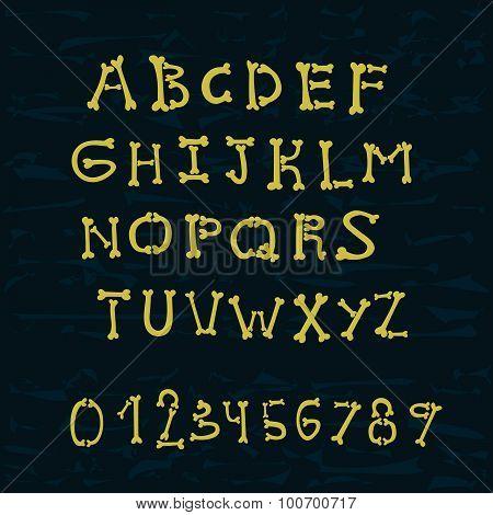bones alphabet