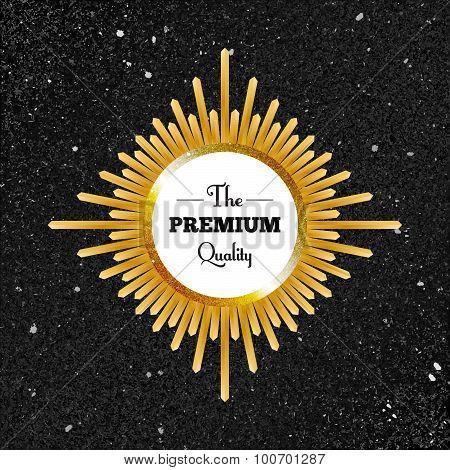 premium quality gold label
