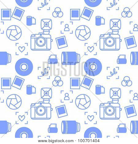 photographer devices seamless pattern