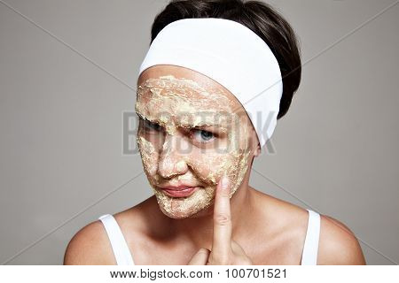 Woman Is Not Satisfated With Her Skin