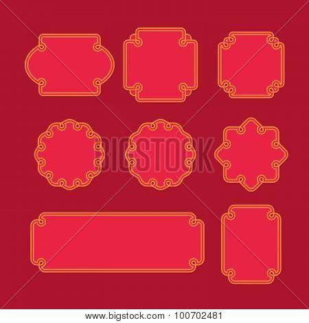 Set of oriental frames