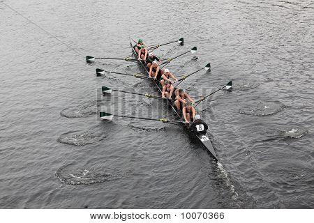 Boston - 24 de octubre: William Smith mujeres colegiadas compite en la cabeza de la regata de Charles en