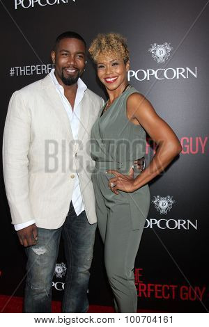 LOS ANGELES - SEP 2:  Michael Jai White, Corie White at the