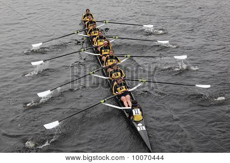 Boston - October 24: The University Of Rochester Women's Crew  Competes In The Head Of The Charles R