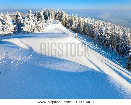 Snowy Sunrise Landscape