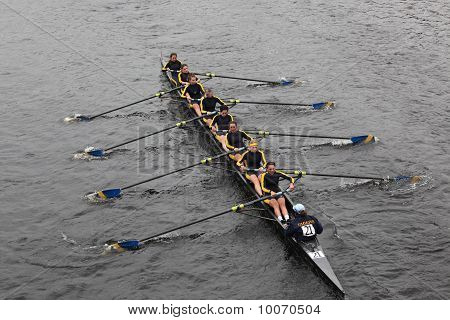 Boston - October 24: Simmons College Women's Crew  Competes In The Head Of The Charles Regatta  On O