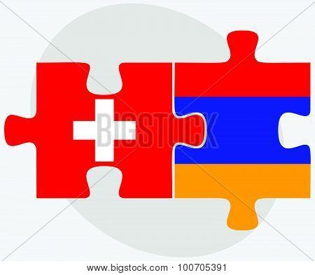 Switzerland And Armenia Flags