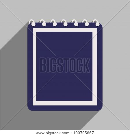 Flat with shadow icon and mobile application notebook