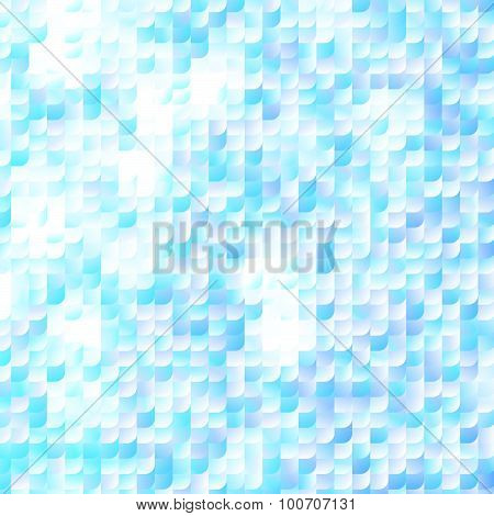 Glisten Blue Fish Scale Background with Gradients and Hotspots