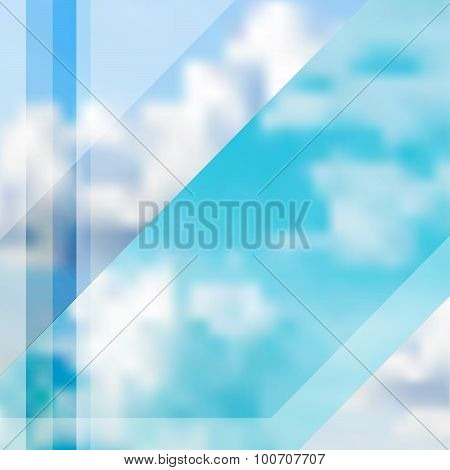 Abstract Cloudy Sky Vector Illustration