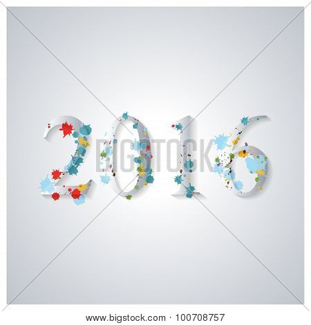 The Background Image For The New Year, Vector Illustration.