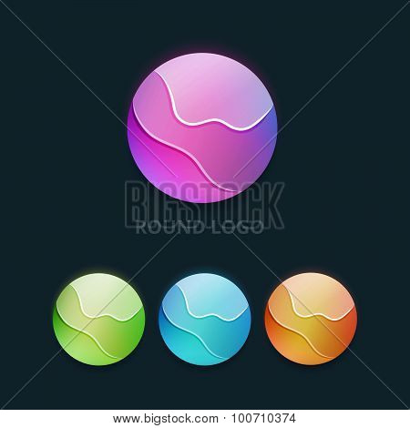 Set of Colorful Round Business Logo