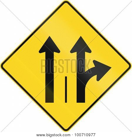 Two Lanes With Straight And Turn Lane In Canada