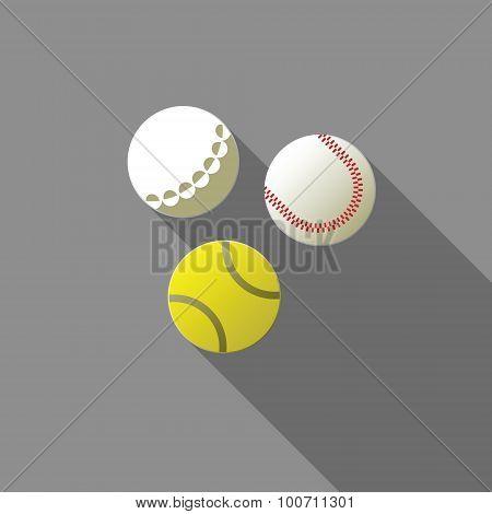 Balls For Tennis, Golf And Baseball.