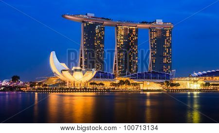 Marina Bay, Singapore Viewpoint, Twilight