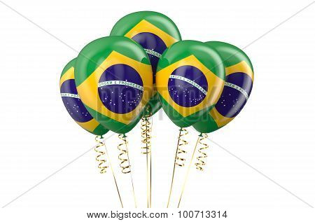 Brazil Patriotic Balloons,  Holyday Concept